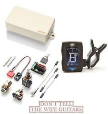 EMG 89R IVORY ACTIVE HUMBUCKER DUAL COIL & REVERSE SINGLE COIL ( GUITAR TUNER )