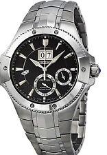 Seiko Men's Coutura Black Dial SS  Kinetic Perpetual Watch SNP007