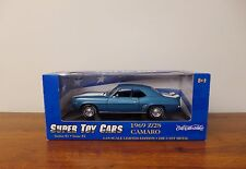 ERTL SUPER TOY CARS 1969 CAMARO Z/28  Rally Sport - BLUE 1/18
