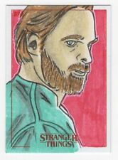 2018 Topps Stranger Things Sketch Card Chief Hopper Artist Nathan Ohlendorf 1/1