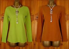 NEW WHITE STUFF SUPER SOFT STRETCHY COTTON TOP LIME GREEN CINNAMON BROWN UK 6-18