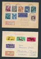 DDR 1953-63, 44 frankierte Belege!! Viele Sperrwerte!!!