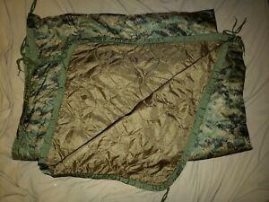 USMC poncho liner, wet weather, reversable
