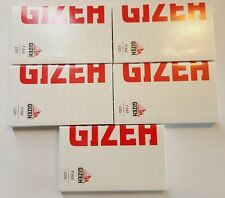 brand new lot of 5 booklets GIZEH fine 17.5 g/m rolling papers magnet pack