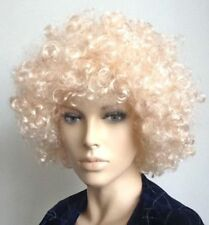 BLONDE CURLY AFRO STYLE FANCY DRESS WIG. FAST UK NEXT DAY DISPATCH.