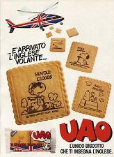 W5532 Saiwa - UAO l'unico biscotto che insegna inglese - Pubblicità 1984 - Adv.