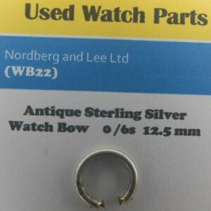 Antique Sterling Silver Pocket Watch Bow Size 12.5 mm For a 0/6 (WB 22)