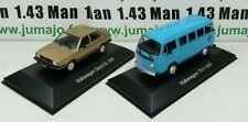 LOT 2 Voiture 1/43 SALVAT Autos Inolvidables: Volkswagen Gacel GL (Voyage) et T2