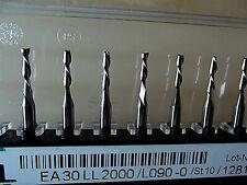 10 Stück VHM Zweischneiden Fräser  2,0 mm links  + + Dremel + Proxxon + CNC