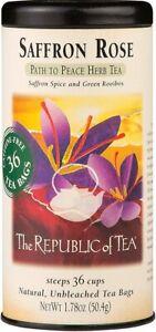 Saffron Rose Herbal Tea by The Republic of Tea, 36 tea bag