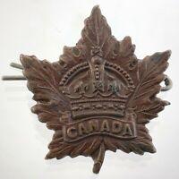 WWI Canada Military Collar Badge WW1 Vintage U740