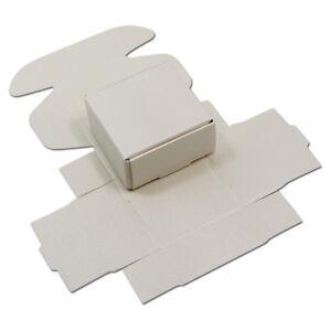 White Kraft Paper Folding Packaging Box Handmade Jewelry Paper Pack Craft Boxes