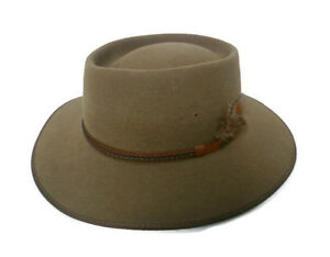 Original AKUBRA Plainsman, Outdoorhut, Westernhut, Cowboyhut, Santone Fawn