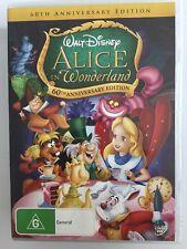 ALICE IN WONDERLAND R4 DVD Free Post DISNEY 60th Anniversary Edition