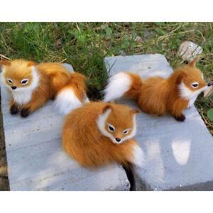 Realistic Simulation Animal Fox Shape Toy  Stuffed Animal Plush Doll Gift Kids