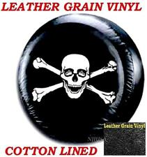 Jeep Wrangler Spare Tire Wheel Cover Leather Case Protector 31 32 33 SKULL BONE