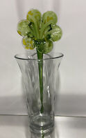 Stunning Vintage Hand Blown Murano Art Glass Long Stem Flower #2