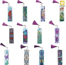 Diamond Embroidery Bookmark Painting Art Mosaic Leather Tassel Book Marks Stich