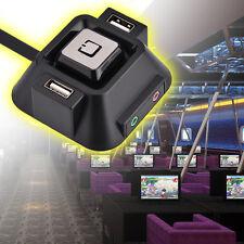 Desktop PC case Switch Dual USB Ports Power Reset Button Audio Microphone Port T