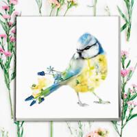 Lola Designs Wildlife Botanical Card - Blue Tit - #SN-274