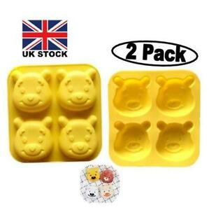 (2 PC) Bear Design Silicone Chocolate,Baking,Wax,Candy,Soap,Bath  Bomb 8 Mould