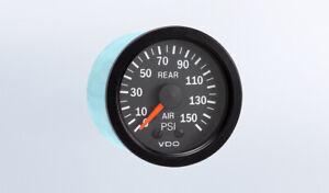 VDO 2-1/16 in. Vision Black 150 PSI Mechanical Rear Air Pressure Gauge 12V