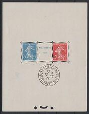 "FRANCE BLOC FEUILLET 2 a "" STRASBOURG 1927 "" NEUF AVEC CACHET EXPO. TTB K585F"