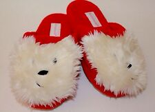 American Girl Youth Size L 5.5-7 Red and White Coconut Puppy Slippers