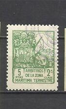 0895-SELLO FISCAL BARCOS ARBITRIOS ZONA MARITIMA Y TERRESTRE ,5 PESETAS.FRANCO