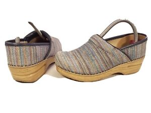 DANSKO PROFESSIONAL STAPLED SHOES TAPESTRY MULTICOLOR SIZE 36/6