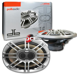 "Polk Audio DB691 6 X 9"" 6 X 9 Inch 3-way Car Marine Audio Coaxial Speakers Pair"