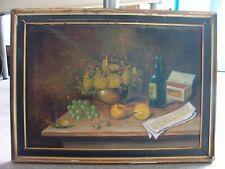 Aage Schou Dansk Artist Öl / Leinwand Painting / Gemälde Still-Leben POLITIKEN