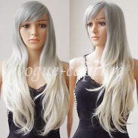 Party Wigs Fashion Women Long Hair Full Wig Cosplay Curly Wavy Straight Full Wig