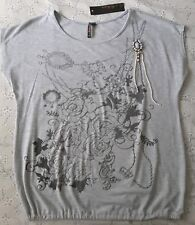 Ladies Top Size 16 BNWT Decorative design with brooch