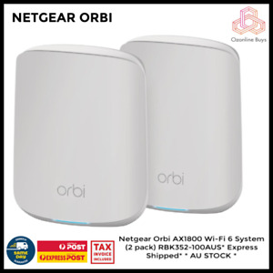 Netgear Orbi AX1800 Wi-Fi 6 System (2 pack) RBK352-100AUS * AU STOCK *
