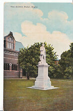 Warwickshire Postcard - Tom Brown's Statue - Rugby     A9497