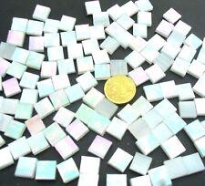 100 Iridised White MOSAIC Tiles 1cm x 1cm Arts & Crafts