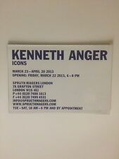 """KENNETH ANGER. """"Icons' private view invitation / folded poster 2013"""