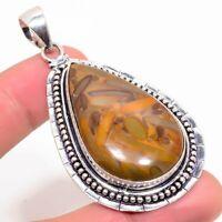 "Fruit Jasper Handmade Ethnic Style Jewelry Pendant 2.17"" VJ-2001"