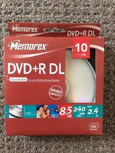 Memorex DVD+R DL Recordable DVDs x 10