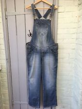 Denim maternity dungarees blue L H&M Mothercare Mama  adjustable new look