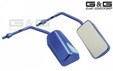 2X F1 Mirror Set in Blue Universal Scooter M8 THREAD Motorcycle R