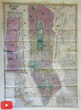New York City Manhattan city plan 1860 Dripps large folding map very detailed
