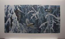 Robert BATEMAN The Scolding - Chickadees and Screech Owl LTD Art Print 3 / 76