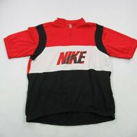 Nike Cycling Jersey Short Sleeve 1/4 Zipper Medium Vintage Biking Spellout