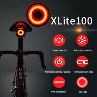 XLite100 Waterproof Bicycle Smart Brake Light LED USB Bike Rear Tail Light CHZ
