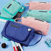 Large Capacity Pencil Holder Pen Storage Bag Pouch School Stationery Fashion