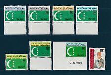 Comores république  lot de 8 timbres de service   1979/80  **