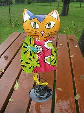 Pendule Chat Horloge de table,Mantel,horloge,Figure animale,chat,montre,à FL 913