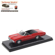 TrueScale TSM144322 Chevrolet Impala 1967 Convertible Bolero Red 1:43 Scale